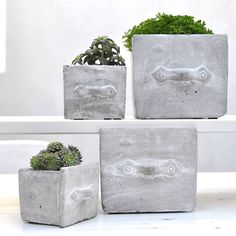 Concrete drawer pot by henry's future | notonthehighstreet.com