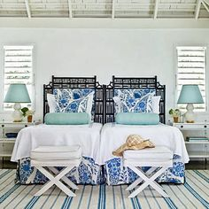 Jeffery McCullough's Under a Southern Influence: Great American Art & Design : BLUE & WHITE...IT JUST WORKS!!