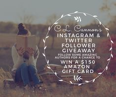 Follow some amazing authors on Instagram and Twitter and be entered to win a $150 Amazon gift card! Don't forget, you can share the giveaway every day to get even more entries! Winner will be chosen January 25th!