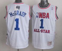 ee8c479eb New 2003 All Star 1 McGrady White Hardwwod Classics Jerseys