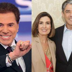 Silvio Santos ironiza divórcio de Fátima e William Bonner