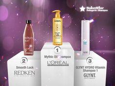 "Hier sind sie, Eure ""Hairdressers most voted"" die SalonStars 2013 in der Kategorie Shampoo:    1. Mythic Oil Shampoo  - L'Oréal Professionnel  2. Smooth Lock  - REDKEN 5th Avenue NYC  3. GLYNT HYDRO Vitamin Shampoo 1  - GLYNT"