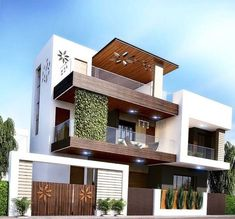 Examples Of Modern Houses With Exteriors Designs House Outer Design, Modern Small House Design, Modern Exterior House Designs, Classic House Design, Modern House Facades, House Front Design, Minimalist House Design, Modern House Plans, Exterior Design