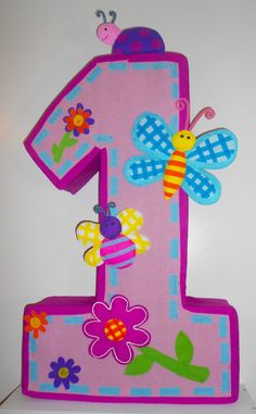 1st birthday girl Pinata. First birthday girl by aldimyshop, $25.00