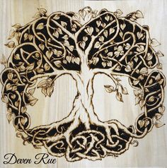 unique Pyrography | Celtic Tree of Life