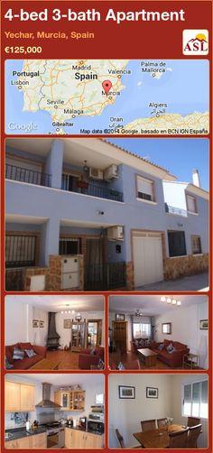 4-bed 3-bath Apartment in Yechar, Murcia, Spain ►€125,000 #PropertyForSaleInSpain