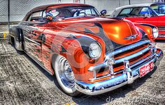 American classic custom painted Chevy on display at car show in Melbourne Australia