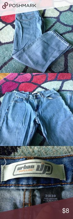 Men's Jean Pans Urban Pipeline men's jeans. Light in color. Great condition, only worn a couple times. Size 31x30. urban pipeline Jeans Straight