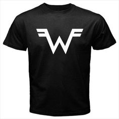 Weezer Logo Black T-Shirt Size S M L XL 2XL 3XL Cotton #Unbranded #PersonalizedTee
