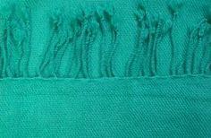 Pashmina sjaal smaragdgroen - close up