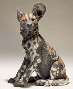 Wild Dog Sculpture : Nick Mackman Animal Sculpture