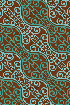 A pattern from the India Collection by surface designer Wagner Campelo. via the designer's site