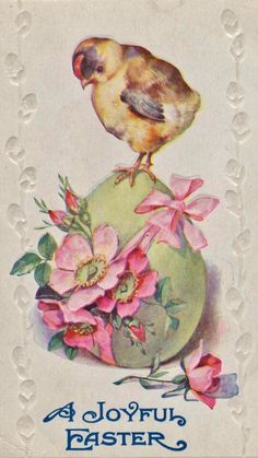 Creating A Life: Another Vintage Easter Postcard Easter Greeting Cards, Vintage Greeting Cards, Vintage Postcards, Easter Art, Easter Crafts, Decoupage, Images Vintage, Easter Pictures, Easter Printables