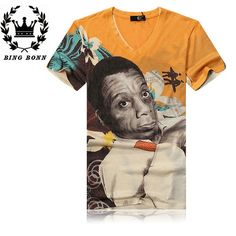 Find More T-Shirts Information about BingBonn Casual Men T Shirts Cotton Short Sleeve Length O Neck Print Character Design Restoring ancient ways Fashion Hip Hop,High Quality hip-hop suits,China t-shirt fit Suppliers, Cheap t-shirt golf from King Fashion 2014 on Aliexpress.com
