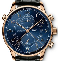 The new IWC Portugieser Chronograph Rattrapante watches with images, price, background, specs, & our expert analysis. Iwc Watches, Fossil Watches, Sport Watches, Wrist Watches, Best Watches For Men, Luxury Watches For Men, Cool Watches, Casual Watches, Gentleman Watch