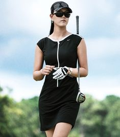 Perhaps if i get good enough i can go cocktail-ready ;-) Love this @nikegolf black dress - golf chic!