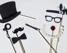 Wedding Photo Booth Props  1920's Inspired by PAPERandPANCAKES, $30.00
