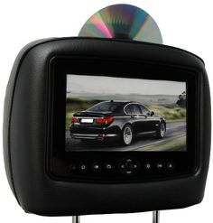 CarShow by Rosen CS-TY4RU10-B02 Single DVD Headrest System 7 Hi-Def LCD Display for 2010-2012 Toyota 4Runner Black in Color. Single DVD/CD/MP3 Player with Slave Monitor. Front Mounted AUX Input. Wireless Fold-Flat 2-Channel Headphones. Wireless Remote Control.  #CarShow #Car_Audio_or_Theater
