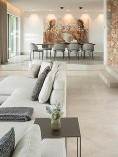 """The Cap Adriano experience"" by Minotti Home Room Design, Dream Home Design, Dining Room Design, Modern House Design, Design Kitchen, Modern Houses, Home Living Room, Interior Design Living Room, Living Room Decor"