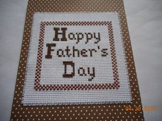 crossed stitched father's Day card available in etsy shop DebbyWebbysCards