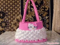 how to crochet hello kitty purse bag free tutorial pattern