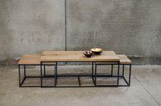 Mesas nido - Cube Deco: Tienda de muebles de madera maciza, mármol y acero