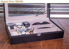 Sunglass and Watch Case Watch Box Engraved by EngraveMyMemories