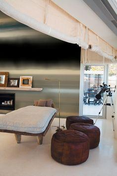 Selanne Wall Mural Black/Grey/Khaki/Blue