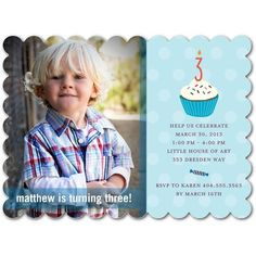 Sugary Celebration - Birthday Party Invitations - simplyput by Ashley Woodman - Oasis - Blue : Front
