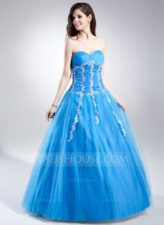 Quinceanera Dresses - $186.69 - Ball-Gown Sweetheart Floor-Length Tulle Quinceanera Dress With Ruffle Lace Beading Sequins (021015864) http://jjshouse.com/Ball-Gown-Sweetheart-Floor-Length-Tulle-Quinceanera-Dress-With-Ruffle-Lace-Beading-Sequins-021015864-g15864
