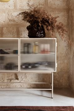 The Haze Sideboard by Ferm Living will hide clutter wherever extra storage space is needed—bedroom, hallway or living room. Its small footprint makes it ideal for small spaces. Contemporary Furniture, Contemporary Design, Interior Styling, Interior Design, Bedroom Cabinets, Scandinavian Interior, Creative Decor, Cabinet Design, Mid Century Design