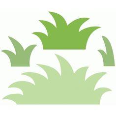 Silhouette Design Store: grassy garden set