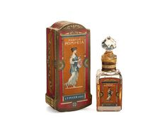 A 'Parfum Pompeia' perfume bottle for L.T. Piver, in glass with label, seal and box. c1922