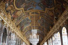 Techumbre de Versalles. Imposible hacer la foto más abajo. Miles de turistas. Próxima visita a París: AGOSTO NO.