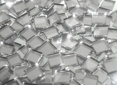 Disco Ball Silver Mirror Hand Cut Glass Mosaic Tiles - Mosaic Tile Mania