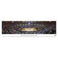 Worldwide Blakeway Panoramas Purdue Boilermakers 'Black Out' Framed Print