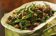 Make the swap from raisins to Craisins® Dried Cranberries in this recipe for Sweet-n-Savory Green Beans. http://www.oceanspray.com/Recipes/Community/Sauces,-Sides---Salads/Sweet-n-Savory-Green-Beans.aspx
