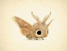 omg the cutest moth