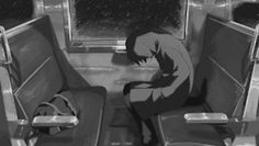 Black and White anime black and white gif anime boy anime gif sad anime