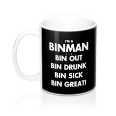 Trust Me I/'m A Bin Man Travel Mug Cup With Handle Favourite Best Funny Dustman