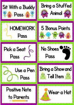FlapJack Educatioanl Resources: Monster Positive Behavior Coupons FREEBIE
