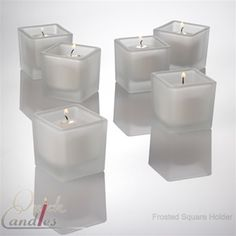 Frosted Square Tealight Candle Holder Set of 144