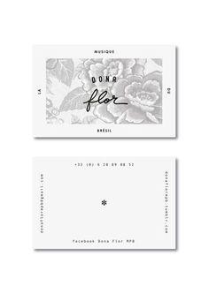 Logo & business card created for a Brazilian music group, Dona Flor. Design by Laia Loio Studio. Corporate Design, Graphic Design Branding, Identity Design, Business Design, Logo Design, Typography Design, Identity Branding, Visual Identity, Personal Identity