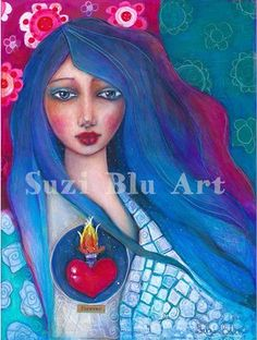 The Sacred Place, print by Suzi Blu on Etsy.