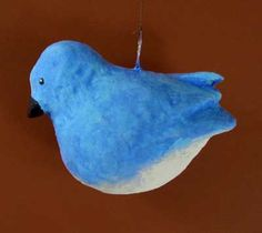 Complete tutorial for making this ornament.  Paper mache clay!