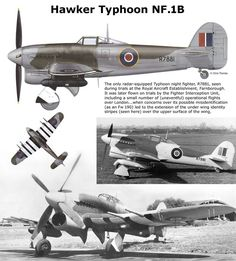 Hawker Typhoon NF.1B Navy Aircraft, Aircraft Photos, Ww2 Aircraft, Fighter Aircraft, Military Aircraft, Fighter Jets, Westland Whirlwind, Hawker Tempest, Hawker Typhoon