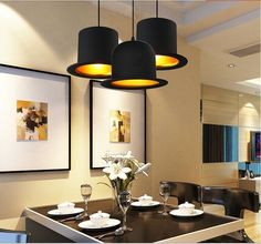 Aliexpress.com : Buy Modern Fashion Aluminum Hat Pendant Lights  Lamps for Dining Room Coffee Shop Bar Restaurant Decoration, 220V ~240V, E27 from Reliable lamp shell suppliers on Shenzhen M-Home Co. Ltd  | Alibaba Group Home Decor Decoration
