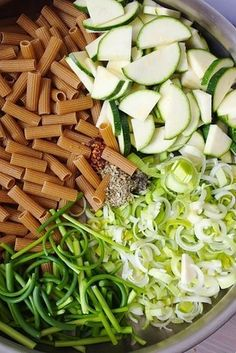 Rigatoni With Leeks, Zucchini, and Garlic Scapes in White Wine Lemon Sauce | 19 Low-Stress Pasta Dinners You Can Make In One Pan