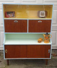 Cool retro scandistyle painted teak cabinet by Brightoldthings, £70.00