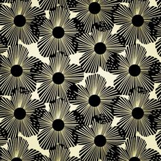 Amazing black and white retro fabric #interiordesign #midcentury #retro Pattern Paper, Pattern Art, Black Pattern, Floral Prints, Textile Prints, Flower Patterns, Textile Patterns, Graphic Patterns, Print Patterns